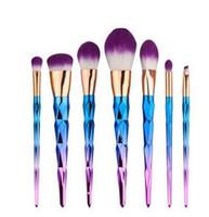 Nouveau kit de pinceau bon marché Vander professionnel 7pcs Poudre de maquillage professionnel de puissance Brosse de beauté multifonctionnelle Puff Batch Kabuki Blusher