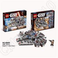 Wholesale Star Wars Millennium Falcon Plastic Building Blocks Model Dolls Imperial Stormtrooper Assemble Building Blocks QS08 CCA5221