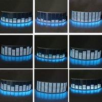 Xterior accessoires voiture autocollants 70 * 16cm musique de voiture rhythm LED autocollant lampe de lampe activé par son égaliseur machine d'impression ...