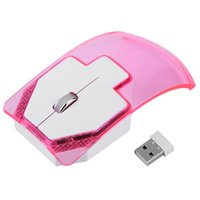 Wholesale Creative Ultra thin Transparent Colorful Light Emitting G Wireless Mouse USB Optical light up Mice Multi color Luminous Mouse