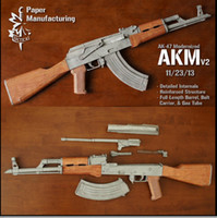 assault rifles - Paper assembled model non toxic harmless assault rifle Total internal purchase and removable movable handmade DIY gun paper model