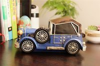 Old car Baratos-Retro nostalgia de coches de resina de alcancía decoración de casa decoración decoración regalos creativos