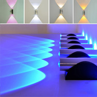 Wholesale Indoor W LED Wall Lamp AC110V V Acrylic Abajur material Aluminum Sconce bedroom Decorate Wall Light