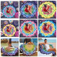 Wholesale 7 Designs cm Tassel Indian Mandala Tapestry Lotus Printed Bohemian Beach Towel Yoga Mat CCA5686