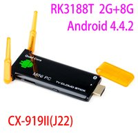 Wholesale CX919 Mini pc Android RK3188T Quad Core G RAM G ROM Built in Bluetooth Dual External Antenna TV dongle J22 HDD player