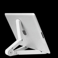 Wholesale Universal Adjustable Fold Up mobile phones Stands Mount Holder Tripod Cradle for iPad Mini Air inch Tablet PC