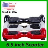 Wholesale USA Stock inch Two Wheels Self Balancing Wheel Smart Hoverboard no Bluetooth Electric Scooter Smart Skateboard LED Scooters Dropshipping