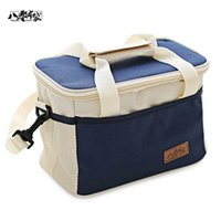 achat en gros de sac de glace de chaleur-Balingbudai Portable Thickened Conservation de la chaleur Barrel Lunch Meal Ice Cooler Bags