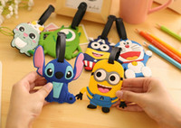 Wholesale 2016 Hot Sell Luggage Tag Cartoon Captain Minion Animal Cute Luggage Accessories Soft PVC High Quality Luggage Accessories P Q0421