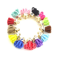 Wholesale 50pcs Small Tassel mm Red Green Colorful Suede Tassels DIY Jewelry Making Earring Findings Accessory