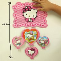 Wholesale Pink Cute Hello Kitty Big Pendant Paper Supplies Kids Happy Birthday Party Banners and Flags cm Length a