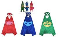 Wholesale 3 packs PJ Inspired Costume Cape Mask quot Backpack Bag Tags Charms christmas decoration Children christmas Gift