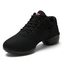 Wholesale with heel new fabric dancing shoes fashion square dance breathable jazz shoes