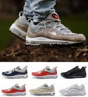 air max trainers shoes - Cheap Sale With Box Supreme x Maxes NaVY SNAKESKIN Running Shoes Men s Airs Cushion Basketballs Trainers Sneakers Size