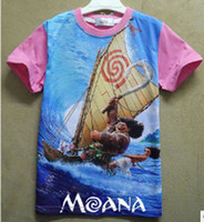 Wholesale 2017 New arrivals moana kids t shirt moana clothes short sleeves tshirt boys clothes T shirt sweatshirt kids summer clothes XT