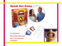Wholesale 2017 new Fibreboards type speak out game interesting game speak out board mouthpiece party game for party and interesting gift free shipment