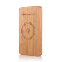 bank wooden - Wood Mobile Power with Qi Wireless Power Bank Charger mAh wooden power bank charger smart mobile