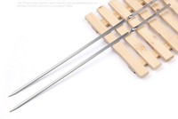 Metal barbecue manufacturers - Manufacturers Direct Sales High Qualiy Stainless Steel Barbecue Needles Roasting Sticks Meat Hot Dog Fork Best for BBQ Camping Cookware