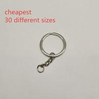 Wholesale DHL Cheapest Price Metal Steel Split Key Rings Dozens Different Sizes Key Chains Split Keyrings Parts