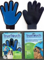 Wholesale 2017 New Arrival Deshedding Pet Glove True Touch For Gentle And Efficient Grooming Removal Glove Bath Dog Cat Brush Comb