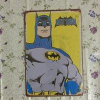Batman héros Vintage Decorative Craft Tin Sign Rétro Metal Peinture Antique Affiche Bar Pub Signs Wall Art