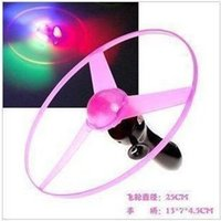 Wholesale Spin LED Frisbees Boomerangs Flash Light Dragonfly Spinning Flying UFO Space Saucer Helicopter Funny Children Kids Outdoor Toy