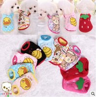 Wholesale NEW brand new adorable flannel puppy warm clothes suitable for winter and both female and male cozy and cute