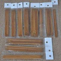 bamboo knitting needles free shipping - Sizes Set cm Double Pointed Carbonized Bamboo Dark Domestic Patina Needles Knitting Knit Kit SET