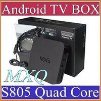 achat en gros de media player vente-14X vente chaude MXQ android TV Boîte Amlogic S805 Quad Core Android 4.4 1 Go 8 Go Lecteur multimédia enracinée Mise à jour en ligne MXQ Android TV Box A-TH