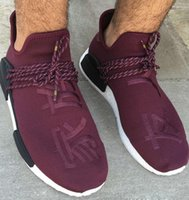 Flat band family - 2017 TOP quality Men Pharrell Williams Burgundy Human Race NMD Chinese Friends And Family Running Shoes HumanRace real Boost shoes