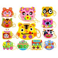 Wholesale Soft EVA Handmade DIY Sewing Backpacks Toy Bags Cute Flower Style Bag Handmade Crafts Kids Children Cartoon Backpacks