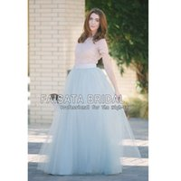 Wholesale Tulle Skirts autumn new fashion faldas korean style big swing maxi skirts womens winter jupe high waist tutu adult long tulle skirt