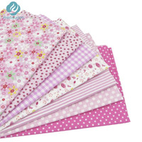 Wholesale 7 cm cm Pink Cotton Fabric for Sewing DIY Quilting Patchwork Tissue Kids Bedding Textile Tilda Doll Cloth