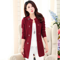 Wholesale Newest Spring Autumn Fashion Long Knitted Sweater Women O Neck Long Sleeve Loose Solid Oversized Outerwear Cardigan Female