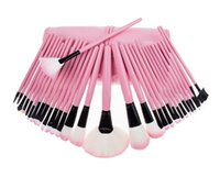 Wholesale 3 Colors Makeup Brushes sets Make Up Tools Cosmetic Brush Tool Foundation With Leather Pouch