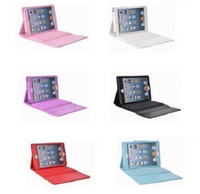 Wholesale Wireless Bluetooth Keyboard Case For ipad Air iPad Mini iPad Tablet pc Leather Smart Cover Silicon Cases Stand
