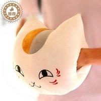 Wholesale cm Natsume Yuujinchou Nyanko Sensei cat plush stuffed hand warm pillow toy toys designs can be chosen