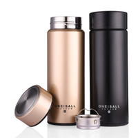 Wholesale 450ML Thermos Cup Stainless Steel Insulated Mug With Tea Infuser Thermo Mug Garrafa Termica Coffee Thermo Mugs Male Gift