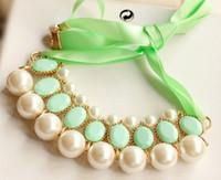 al por mayor cintas comodín-En Europa y el joker star elegante perla cinta collar de los fabricantes de venta en Europa y el collar grande