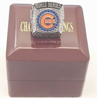 baseball rhinestone - Replica Chicago CUBS Baseball World Series Championship Ring Size with wooden box