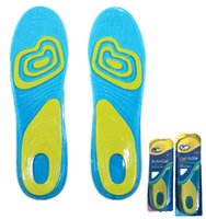 Wholesale Branded Massaging Gel Activ Work Insoles for Men women Soft Silicone Damping Insole Shade Sport Replacement