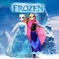 Wholesale Hot Frozen Toys Anna Elsa Olaf Dolls cm inch Kids Christmas Birthday Dolls Gift Children Classic Toys