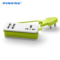 Wholesale 100 Original PINENG PN UK extension socket with USB ports portable Uiversal Power Socket is easy and convenient for traveling
