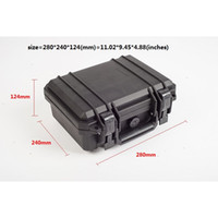 Wholesale Waterproof Hard Case with foam for Camera Video Equipment Carrying Case Black ABS Plastic sealed safety portable tool box DJ9001