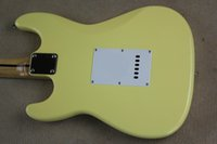 Wholesale Factory store Scalloped Fingerboard Dimarzio Pickups Vintage yellow cream Yngwie Malmsteen Guitar Big Head ST Electric Guitar