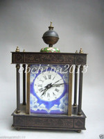 antique lead statues - Cloisonne Chinese antique folk collection of pure copper statue of deer mechanical clock