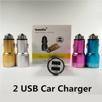 aluminum hammered - Lamchin Loly Dual USB Car Charger Port Travel Power Adapter V A Mini Metal Aluminum Alloy Safety Hammer for iphone