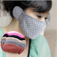 Wholesale Lovely Warm Mask Earmuffs mouth muffle Two in one Thermal Ear Masks Cotton Cloth Thermal