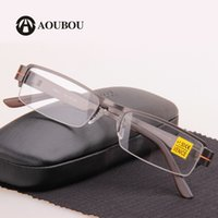 Wholesale Steel frame reading glasses men oculos de grau occhiali da lettura gafas de lectura glasses gafas eyeglasses sol feminino clear glasses