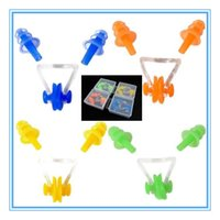 Wholesale Silicone Ear Plug Plugs Earplugs Nose Clip Combo Waterproof Soft Swimming SetS1